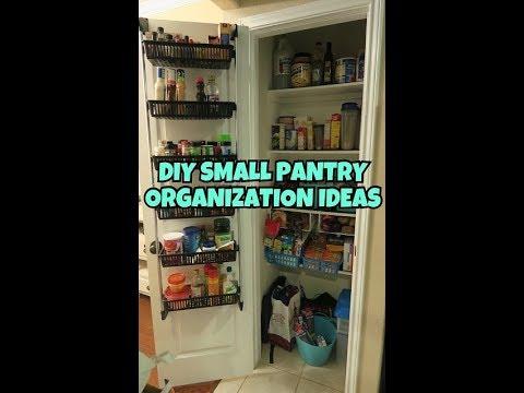 DIY SMALL PANTRY ORGANIZATION IDEAS | Closet Organization Cabinet Hacks Tips - Sharron's Take
