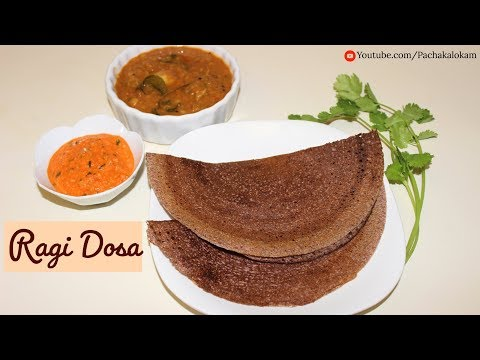 Healthy Ragi Dosa - No Rice Dosa | റാഗി ദോശ | Finger Millet Dosa for Weight Loss, Diabetes