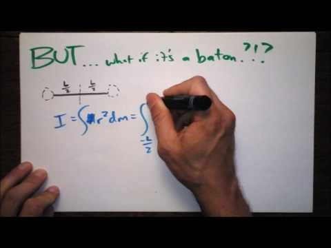 How to Calculate I of a French Stick   Moments of Inertia In Your Face   Doc Physics