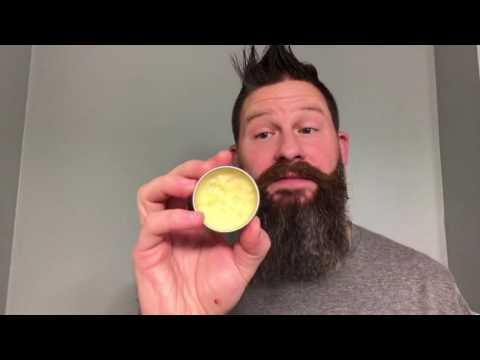 How to apply beard balm and mustache wax