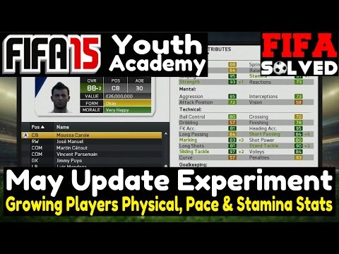 FIFA 15 Youth Academy May Update - Growing Pace Stamina & Physical Stats