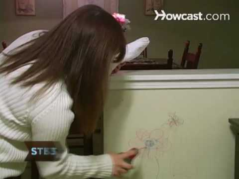 How to Clean Crayon Marks Off Painted Walls