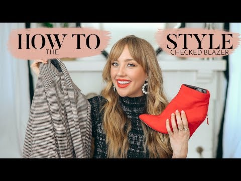 5 WAYS TO WEAR A CHECKED BLAZER | How To Style