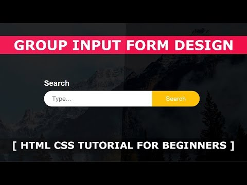 Group Input Form Design - Html CSS Tutorial For Beginners - Fullscreen Search Form Design