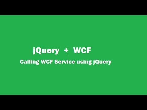Calling WCF Service Using jQuery : Part 01
