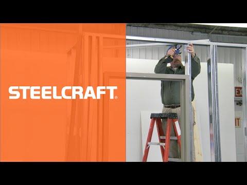 How to Install a Steel Door Frame in Steel Stud Construction