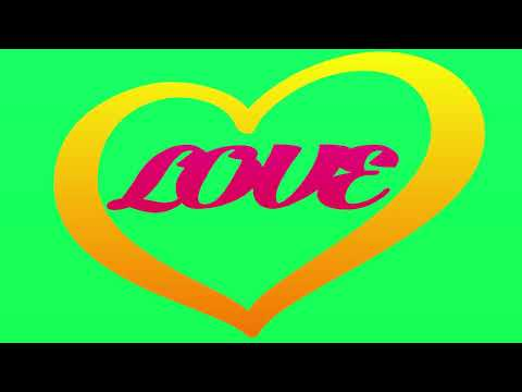 Green Screen || Love Video Effects || Free Download Heart Animation
