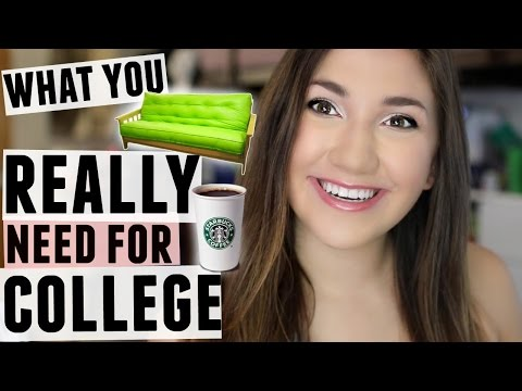 What you DO and DON'T Need for College!  What to Pack vs What NOT to Pack!