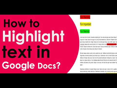 How to Highlight Text in Google Docs - 2014