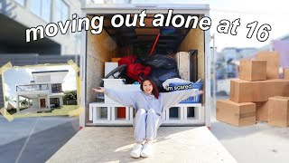 moving out alone at 16 | vlog #1
