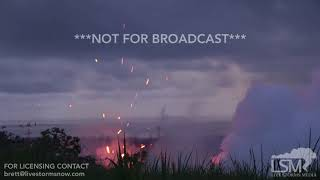 5-13-2018 Pahoa, Hi Fissure 17 erupts with big explosions of magma and rock, kilauea volcano 4k