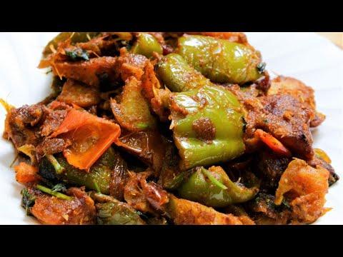 शिमलामिर्च आलू की सूखी सब्ज़ी |potato capsicum recipe indian|shimla mirch recipe in hindi video