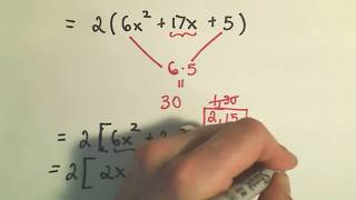 Factoring Trinomials Factor By Grouping Ex 1