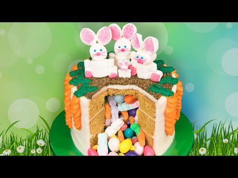 Easter Candy Pinata Cake from Cookies Cupcakes and Cardio