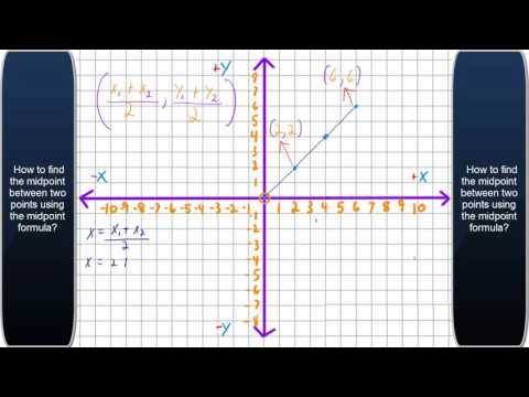 How to find the midpoint between two points?
