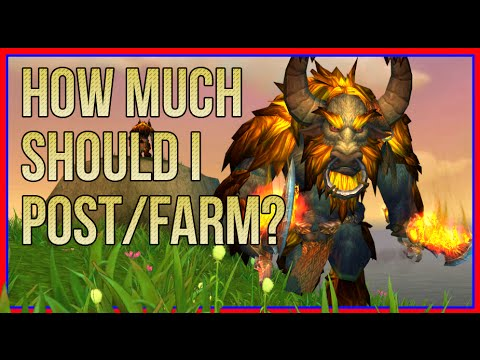 Golden Rule to the Best Farming Amount (WoW Gold Guides)