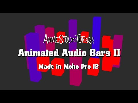 Animated Audio Bars II  - Moho Pro - Cutter by ETBlue