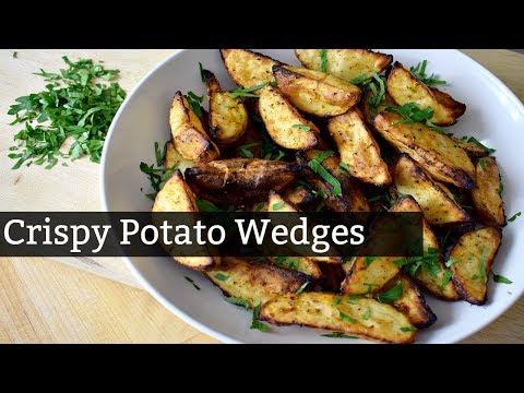 Crispy Oven-Baked Potato Wedges | Solo Budget-Vegan