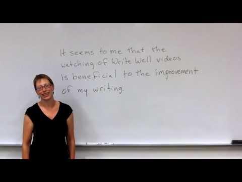 Write Well: Editing Sentences Using the Paramedic Method
