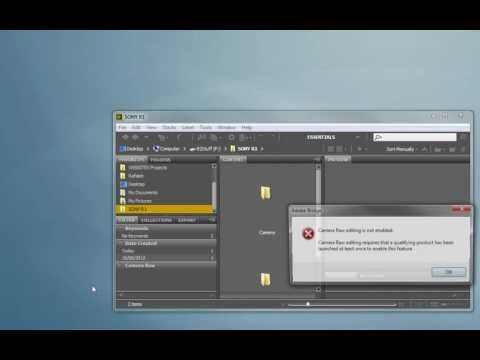 Camera Raw editing is not enabled CS6 FIX (PC)