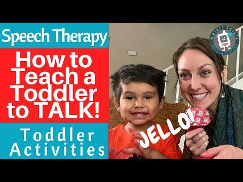 Speech Therapy - How To Teach a Toddler to TALK! - Toddler Activities - Jello Sensory Play