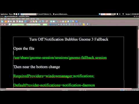 Turn Off Notification Bubbles Gnome 3 Fallback Arch GNU / Linux