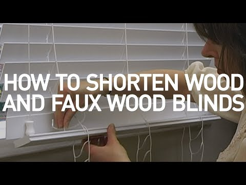 How to Shorten Blinds- Wood and Faux Wood Blinds