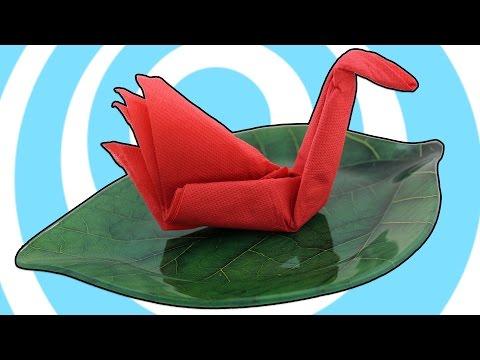 DIY: Easy Paper Napkins Crane (Swan) Table Decoration