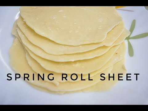 How To Make Spring Roll Sheets | In Hindi | Homemade Spring Roll Wrappers | Engineer's Kitchen