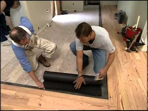 Installing a Reclaimed Pine Floor