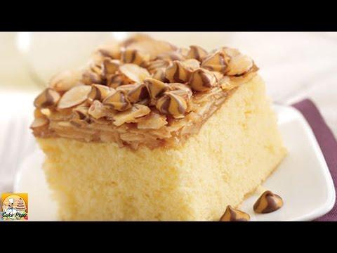 Caramel Almond Coconut Cake