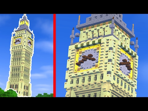 How To Build the BIG BEN in Minecraft (CREATIVE BUILDING)