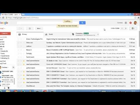 How to Block Someone on Gmail - Block/Unblock sender on Gmail