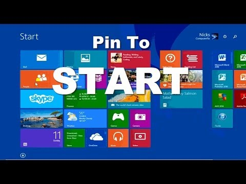 Windows 8.1 Update 1 - How to Pin to Start!!! Tutorial Review - Beginners Video Guide 2014