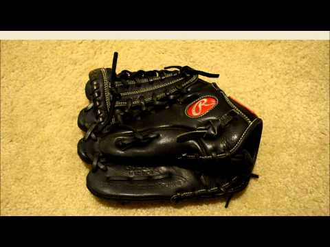 Rawlings Gold Glove GG204G Baseball Glove Relace in Royal Blue - Before and After Glove Repair