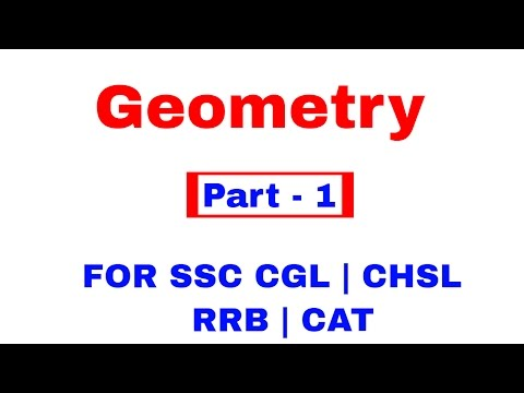 Geometry For SSC CGL | CHSL | CAT | RRB [ In Hindi] Pat - 1