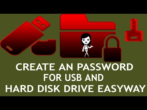 Hard drive locked | How to password protect a external Hard drive| How to lock a USB |Lock Partition