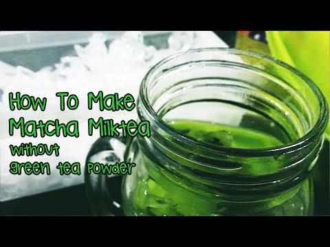 How to make Green Tea; Matcha Milktea (without green tea powder)