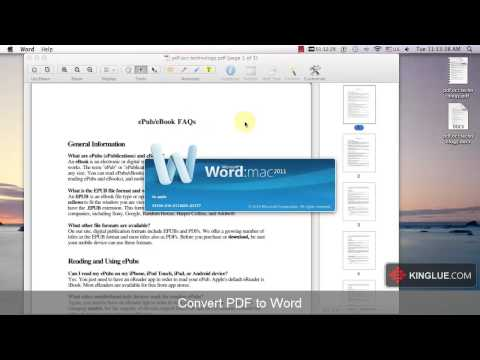 [PDF Editor Mac] How to Convert scanned PDF to editable Word/Excel/PPT/HTML/EPUB/Text?