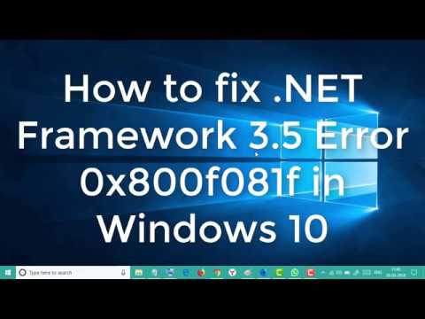 How to fix  .NET Framework 3.5 Error 0x800f081f on Windows 10