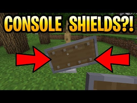 Minecraft SHIELDS COMING TO CONSOLE!? PS3, PS4, Xbox 360, Xbox One, Wii U & Switch