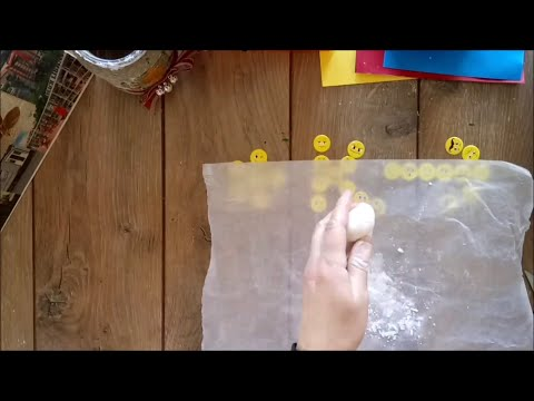 DIY How to modeling clay by hand tutorial/cold porcelain(easy recipe!)