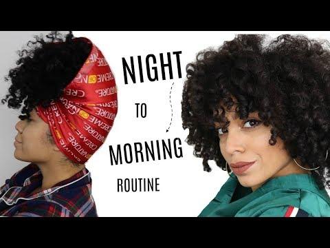 Night to Morning Natural Hair Routine | + DIY Hair Refresher Spray