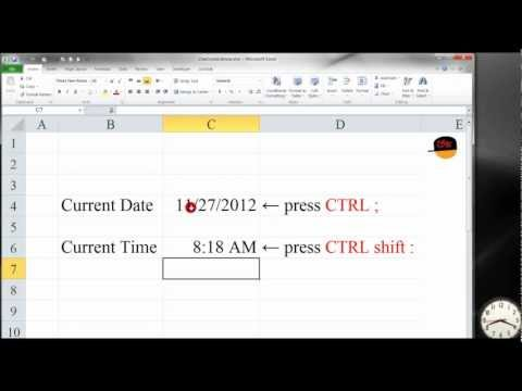 Excel: Shortcut to Display Current Date and Time