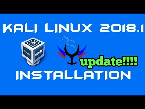 How to install kali linux 2018.1 in Virtualbox ??