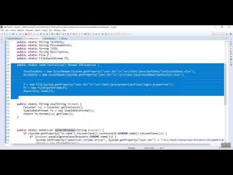 TestController Design in Keyword Driven Framework Video-9