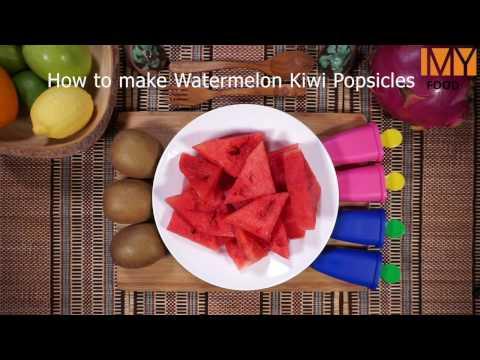How to make Watermelon Kiwi Popsicles
