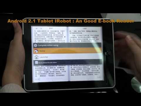 Android 2 1 Tablet IRobot An Good E Book Reader