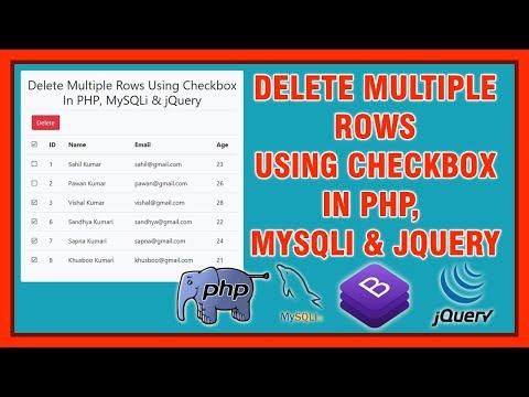 Delete Multiple Rows Using Checkbox In PHP, MySQLi & jQuery