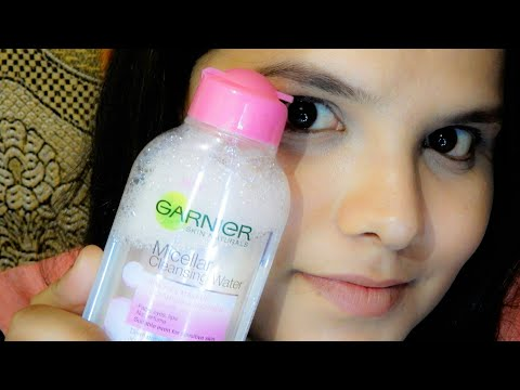 Makeup cleansing routine ft. Garnier micellar water | all about skin and makeup